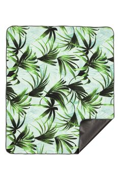 Picnic blanket - Mint green/Palm leaf - Home All | H&M