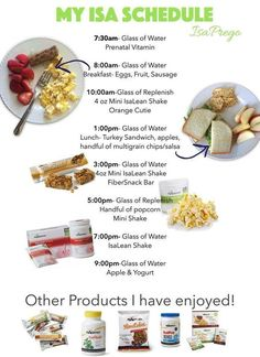 An Isagenix meal schedule works even when you're prego!