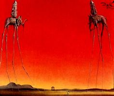 "Salvador Dali "" Elephants """