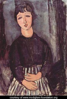 Portrait of a maid - Amedeo Modigliani - www.modigliani-foundation.org
