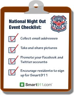 How to make your National Night Out event a success #NNO #Checklist