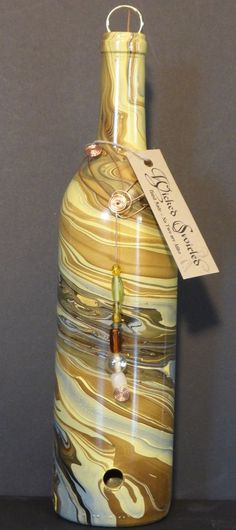 Bottle incense burner,by Wicked Swirl, Hand made , No two alike.