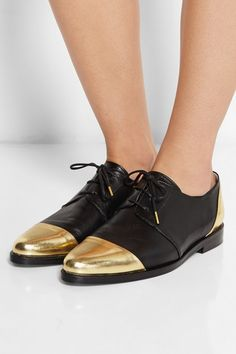 Thakoon - Addition Karolina two-tone leather brogues Masculine Style, Leather Brogues, Toe Shape, Your Shoes, Passion For Fashion, Me Too Shoes, Fashion Shoes, Shoe Boots