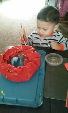 Making a valentines wreath!