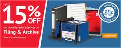 Up to 15% Off Filing & Archive