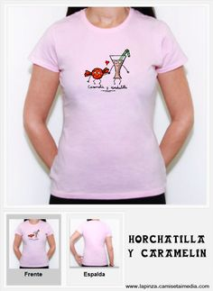 Historia de amor entre una horchata y un caramelo.    www.lapinza.camisetaimedia.com Horchata, T Shirts For Women, Tops, Fashion, Amor, T Shirts, Toffee, History, Moda