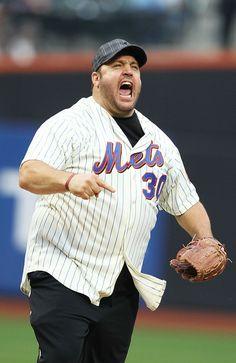 Kevin James in Detroit Tigers v New York Mets New York Mets Baseball, Baseball First, Ny Mets, Selena, Lets Go Mets, Mlb Nationals, Kevin James, Mlb Teams, Sports Teams