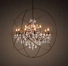 in love with the lighting from restoration hardware these days