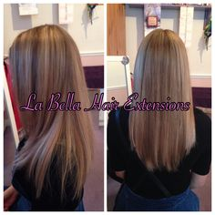 Nano ring extensions ombre