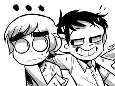 Scott Pilgrim and Wallace :D I. Love. Wallace.