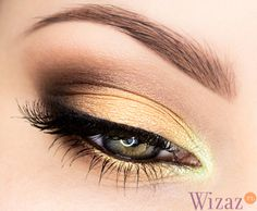 Jesienny makijaż Hair Beauty, Make Up, Eyes, Hair Styles, Inspiration, Yellow, Nails, Gold, Maquillaje
