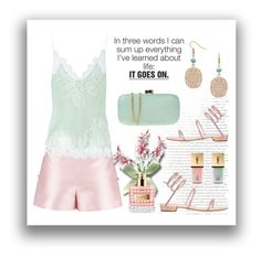 """""""Life. ... It Goes On"""" by conch-lady ❤ liked on Polyvore featuring By Sun, Carine Gilson, René Caovilla, Yves Saint Laurent and Serpui"""