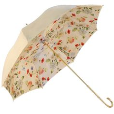 cream umbrella w/ floral liner