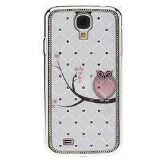 Owl Pattern Hard Case with Rhinestone for Samsung Galaxy S4 I9500 - USD $ 3.99