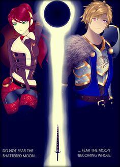 Eclipse Poster (Arkos and Renora story) by DavidEllisArtwork on DeviantArt Ruby Anime, Rwby Oc, Team Rwby, Rwby Jaune, Rwby Pyrrha, Character Symbols, Rwby Characters, Rwby Ships, Blake Belladonna