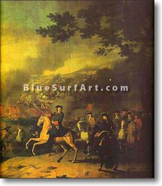 Peter the Great at the Battle of Poltava - £124.99 : Canvas Art, Oil Painting Reproduction, Art Commission, Pop Art, Canvas Painting
