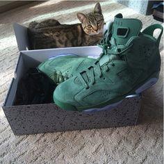 "factory price 76029 a83b0 Air Jordan VI (6) Retro ""Green Suede"" Pinterest  JamiiiePooh Suede Sneakers"