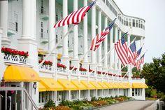 Mackinac Island, Michigan - the Grand Hotel.