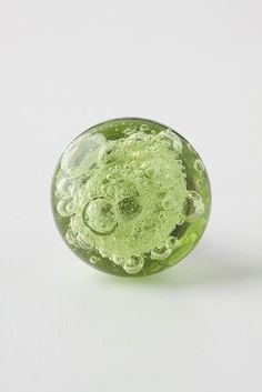 Bubbled Glass Knob in green or clear