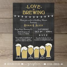 Rehearsal Dinner Invitations Wedding Love is Brewing Engagement Party Shower Chalkboard Brew Rehearsal Dinner Invitations, Rehearsal Dinners, Wedding Invitations, Rehearsal Dinner Themes, Engagement Invitations, Invites, Wedding Favors, Digital Invitations, Printable Invitations