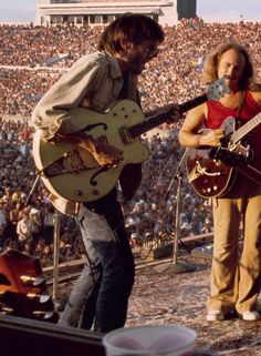 Neil Young & Davis Crosby live with Crosby, Stills, Nash & Young, Rock Roll, Rock N Roll Music, Neil Young, Crosby Stills & Nash, Stephen Stills, 70s Music, Gretsch, Jim Morrison, Eric Clapton