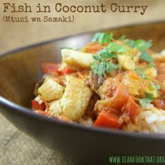 Fish in Coconut Curry (Mtuzi wa Samaki)