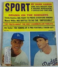 Sport Magazine 1965 | Sport-Magazine-Drama-On-The-Dodgers-Maury-Wills-Sandy-Koufax-Oct-1965 ...