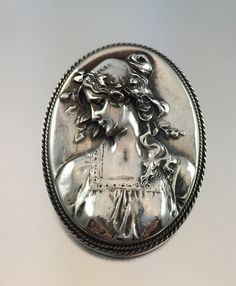 Henryk Winograd Sterling Silver Repousse Cameo by RhinestoneByrd