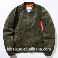Latest quilted green Pilot flight jacket bulk wholeasle custom bomber jacket men