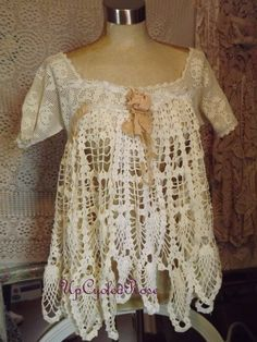 Isn't this top gorgeous? Mother To Be Shabby Couture Tunic Top Bohemian by UpcycledRose, $90.00
