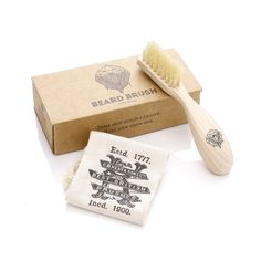 Beard Brush in a Bag and a Gift Box. Handmade in the UK. Natural, strong and elegant. The perfect accessory for any gentleman. Available for...