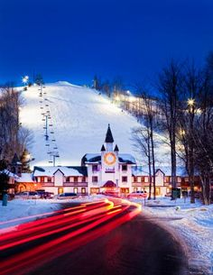 Schuss Mountain (Shanty Creek Resorts), near Traverse City, Michigan ~ Where I learned to ski