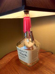 Homemade Makers Mark Lamp