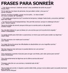 Frases para sonreir #unaactitudpositiva via Julio Pomar