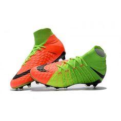 new style 5fbf7 8bc7d Botas De Futbol Nike Hypervenom Phantom III 3 DF FG Verde eléctrico Negro  Hype Naranja Online Baratas