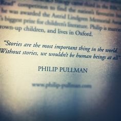 Philip Pullman Story Quote