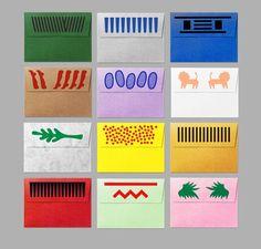 Risotto Studio - cards & envelopes hand-printed on a Risograph Mises En Page Design Graphique, Art Graphique, Web Design, Design Art, Print Design, Stationery Design, Branding Design, Buch Design, Poster S