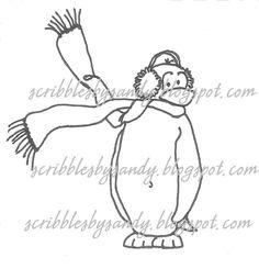 $3.00 Brrr Digital Stamp  (http://buyscribblesdesigns.blogspot.ca/2012/09/202-brrr-250.html) digital stamps, digis, scribbles designs, scribbles designs, penguins, winter
