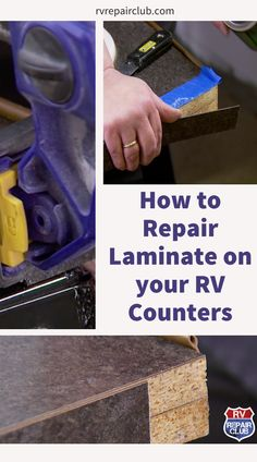 Don't throw out that damaged laminate! A scratched, cracked, or peeling laminate countertop is not a lost cause. In fact, repairing laminate is often significantly more cost effective than replacing it, and with a little bit of finesse you can end up with a result that's similarly attractive. In this step-by-step video lesson, Carol Jackson of RV Inspection Specialists teaches you simple tips for repairing laminate on your RV's countertops. Rv Living, Tiny Living, Diy Camper, Camper Van, Small Campers, Diy Rv, Rv Interior, Laminate Countertops, Home Projects