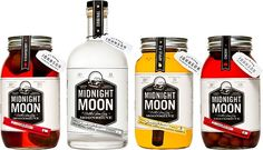 Midnight Moon Vodka - the real fruit ages in the jar, and all of the delicious flavor comes from the fruit itself