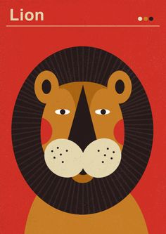lion | poster for kids