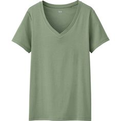 829e59da38d56d UNIQLO Women Supima Cotton V-Neck Short Sleeve T-Shirt (615 PHP)