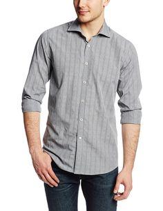 $119.99 Robert Graham Men's Napoli Regular Cuffs Shirt, Black, 18.5 Robert Graham