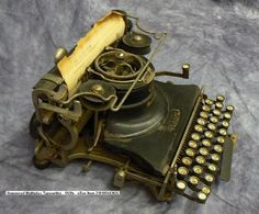 Hammond Multiplex Typewriter, ca. 1920s. in Historical Steampunk References by Alisdair McAlister