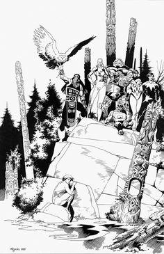 Alpha Flight print Comic Art mike mignola