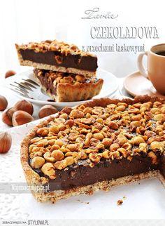 Tarta czekoladowo-orzechowa | Najsmaczniejsze.plNajsmac… na Stylowi.pl Sweet Recipes, Cake Recipes, Dessert Recipes, Cakepops, Eat Happy, Cupcakes, Polish Recipes, How Sweet Eats, Cookie Desserts