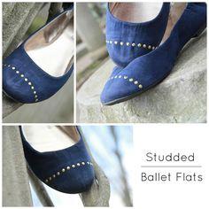 KRISTINA J.: How To Make Studded Ballet Flats