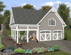 Carriage House Plan with Elbow Room - 20055GA | Carriage, 2nd Floor Master Suite, Butler Walk-in Pantry, CAD Available, PDF | Architectural Designs