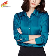Women Tops New Blouses 2017 Spring Fashion Office Shirts Ladies Plus Size Women Clothing Long Sleeve Blusas feminina 3 Colors