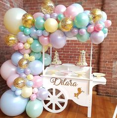 61 ideas for party kids birthday decoration Unicorn Birthday Parties, Unicorn Party, First Birthday Parties, Birthday Party Themes, Kids Party Decorations, Balloon Decorations, Baby Shower Decorations, Decoration Party, Ideas Party